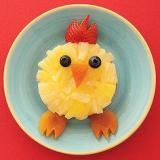 Pineapple pieces, dried apricots, strawberries & blueberries make up this gorgeous chick!