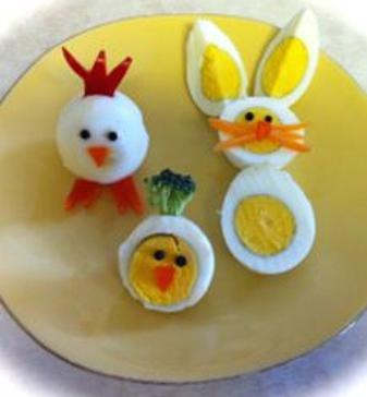 Creative boiled eggs.