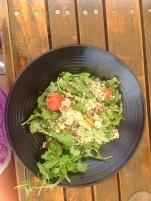 My delicious lunch at the Rottnest Hotel- Quinoa, artichoke, cherry tomato, spinach and feta salad.