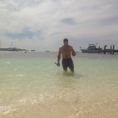 The American getting his baywatch on :)