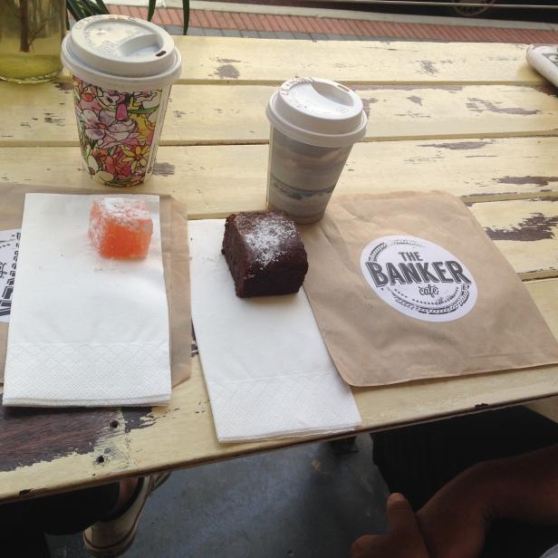 Turkish Delight, Brownie & coffee