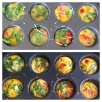 Omelette cupcakes