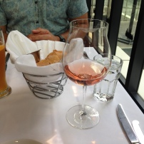 A glass of French rose & fresh bread to start