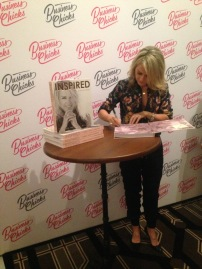 Lorna signing my book